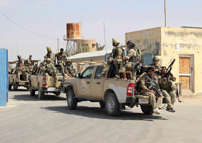 Afghan special forces arrive for a battle with the Taliban in Kunduz city, northern Afghanistan September 29, 2015. Photo: REUTERS