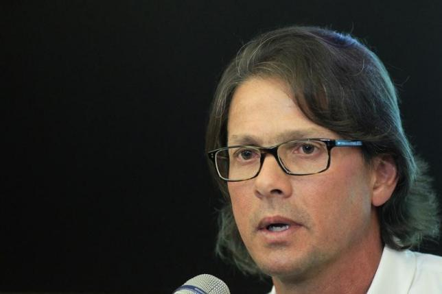 Lorenzo Mendoza, owner of Venezuela's largest private food production company Empresas Polar, speaks at a news conference in Caracas in this May 13, 2013 file photo. Photo: REUTERS