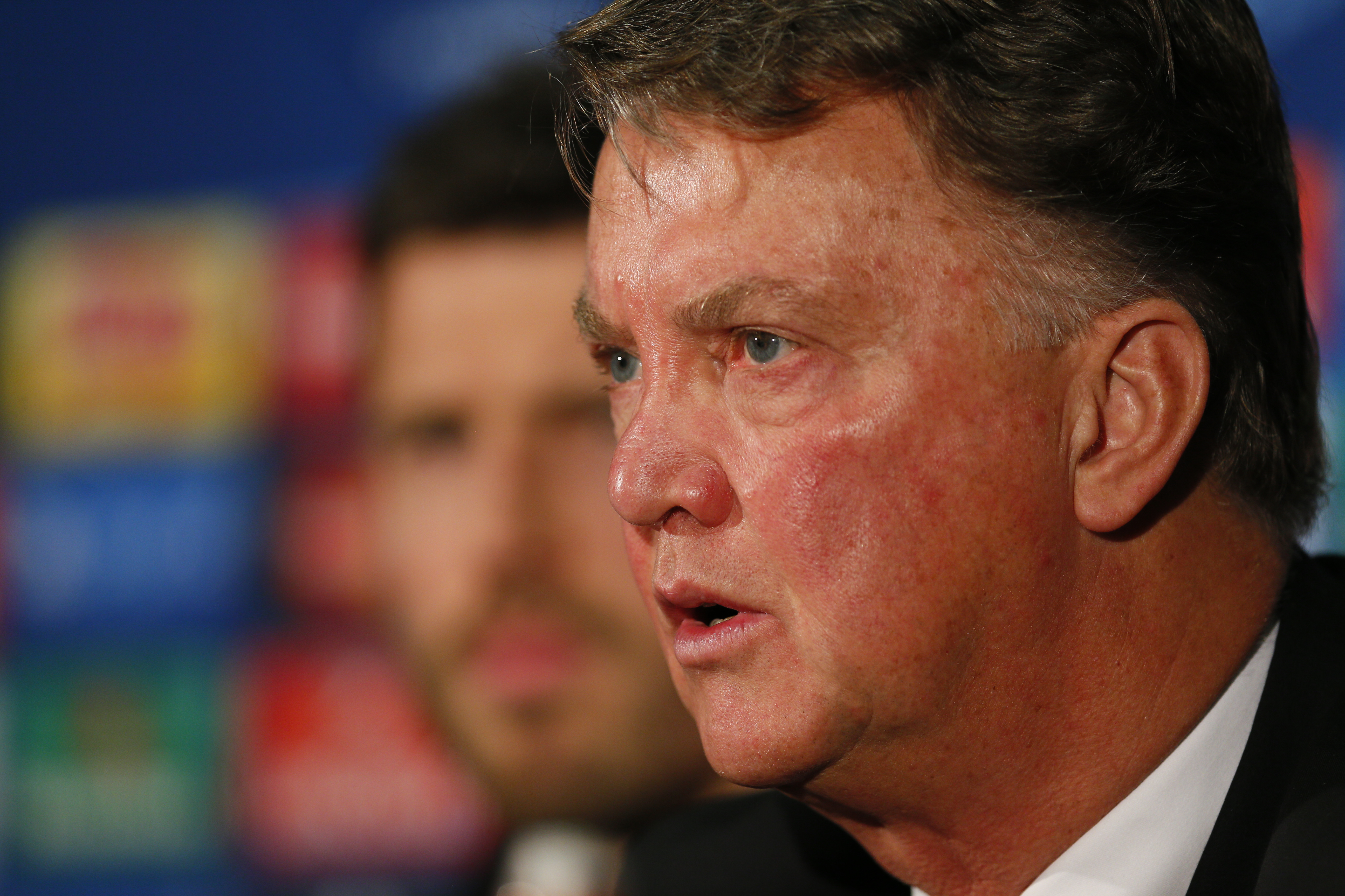 Manchester United manager Louis van Gaal during the press conference at Old Trafford on November 11, 2015. Photo: Reuters