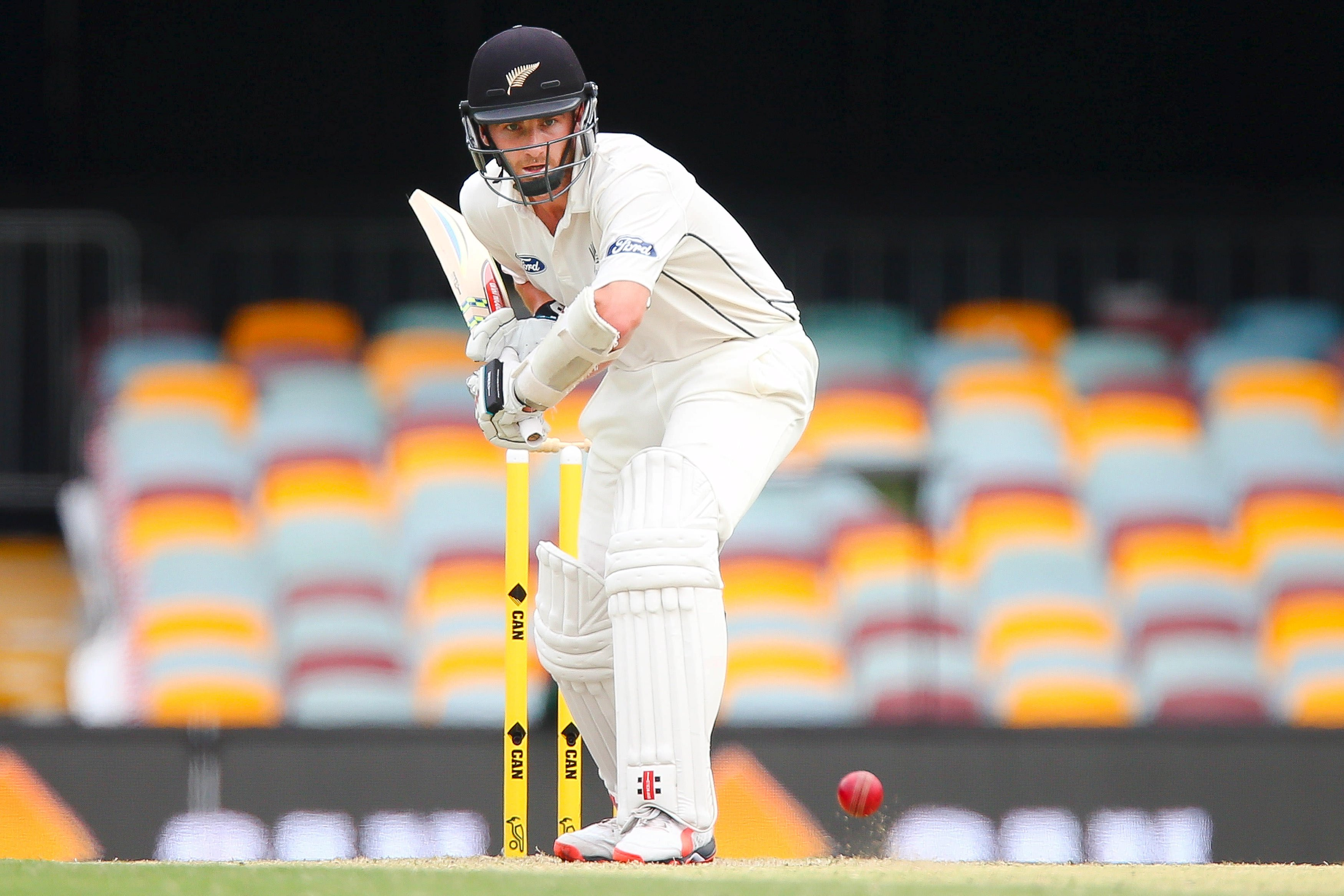 New Zealand batsman Kane Williamson shapes to play a drive, during the first cricket test match between Australia and New Zealand in Brisbane, November 8, 2015. REUTERS/Patrick Hamiltonu2028