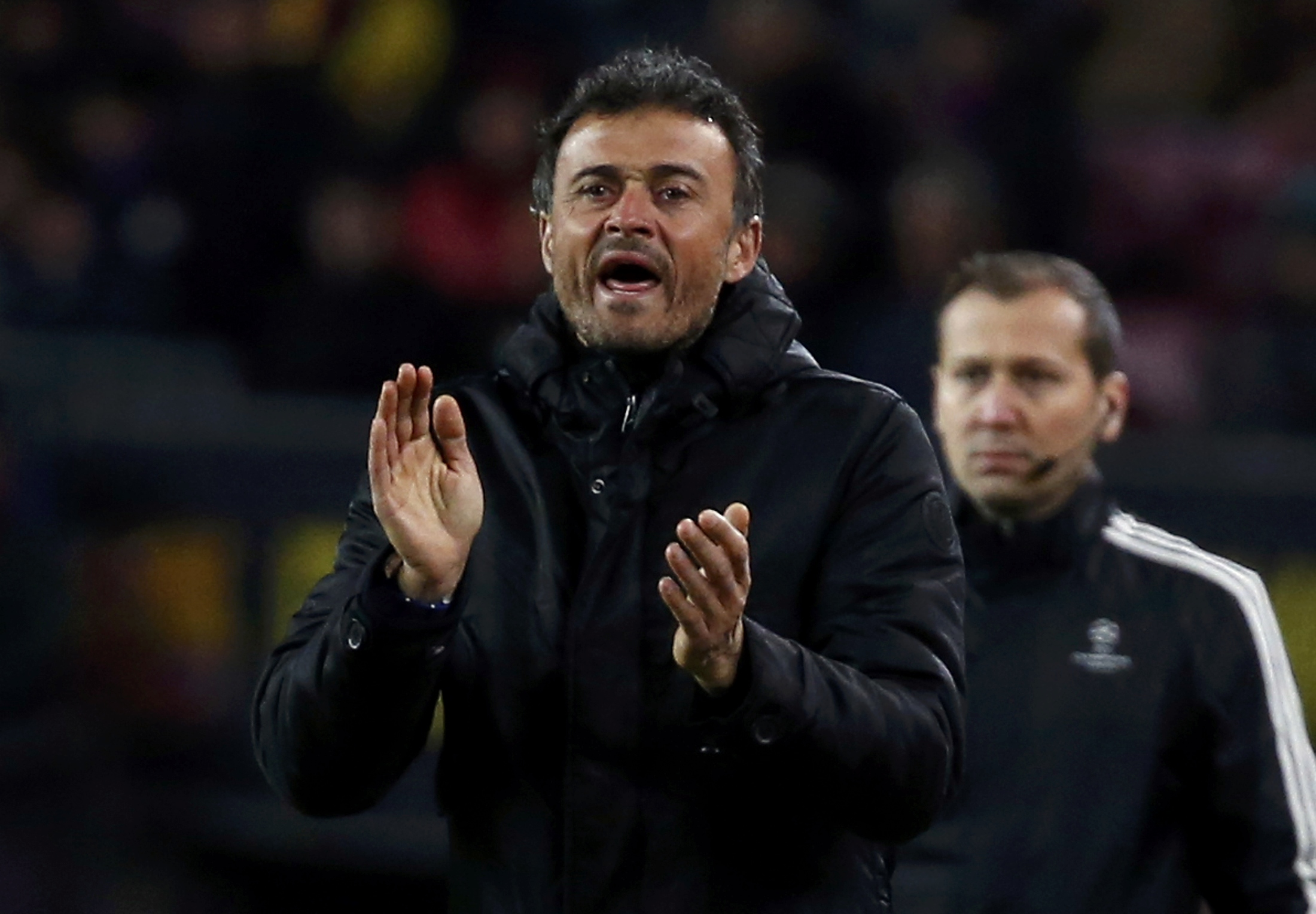 Football Soccer- Barcelona v AS Roma - UEFA Champions League Group Stage - Group E - Camp Nou, Barcelona, Spain - 24/11/15  Barcelona's coach Luis Enrique.   REUTERS/Paul Hanna