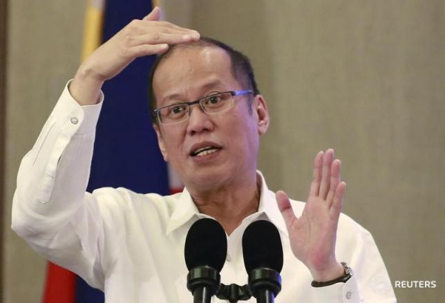 President Benigno Aquino   in Manila October 27, 2015.  REUTERS/Romeo Ranoco   -