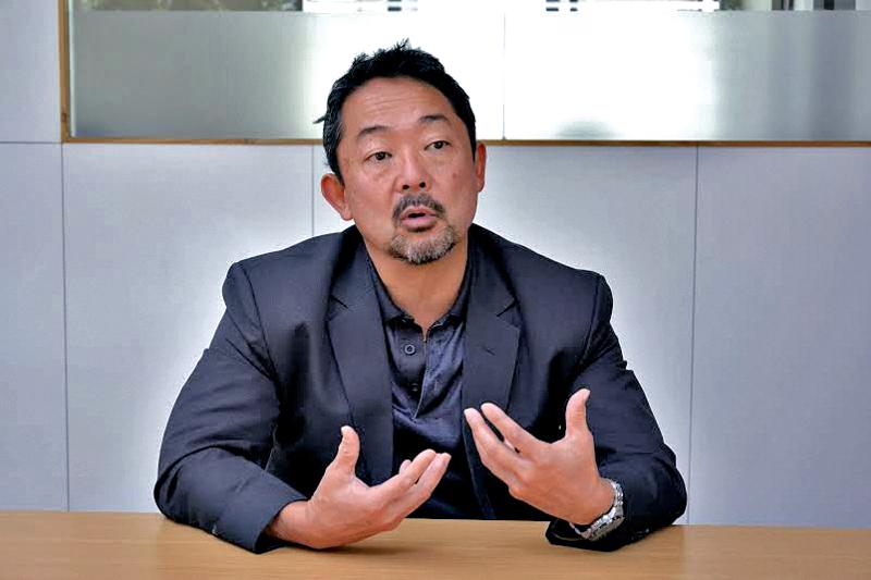 Dr H kit Miyamoto in conversation with THT journalist on Monday. Photo: THT