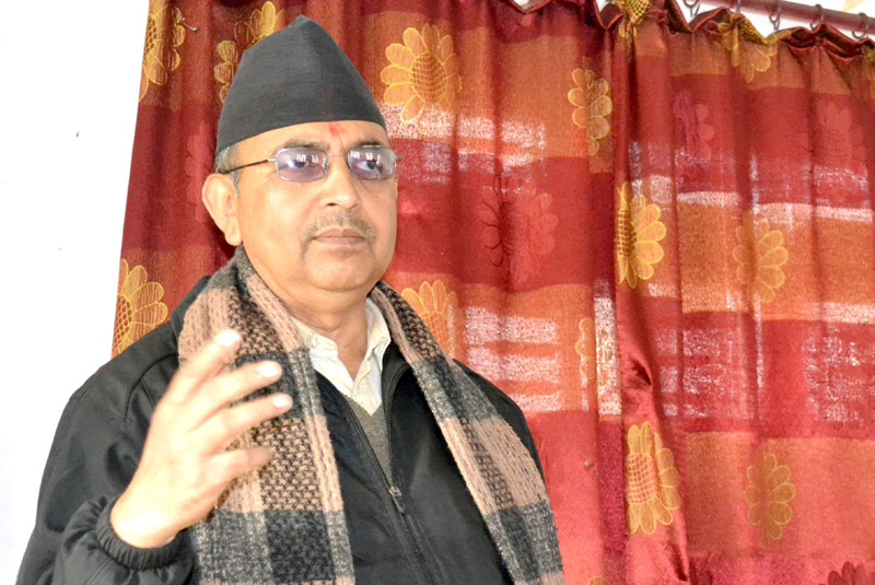 Deputy Prime Minister and Minister for Women, Children and Social Welfare CP Mainali. Photo: THT/ File