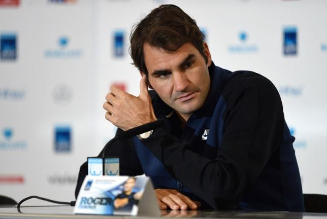 Switzerland's Roger Federer during a press conference. Action Images via Reuters / Tony O'Brien