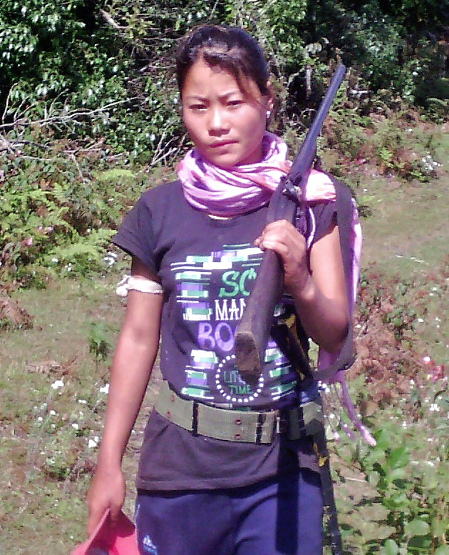 Cadre affilated to Harahang group, Durga Limbu in this file photo. Courtesy: Taplejung District Police Office