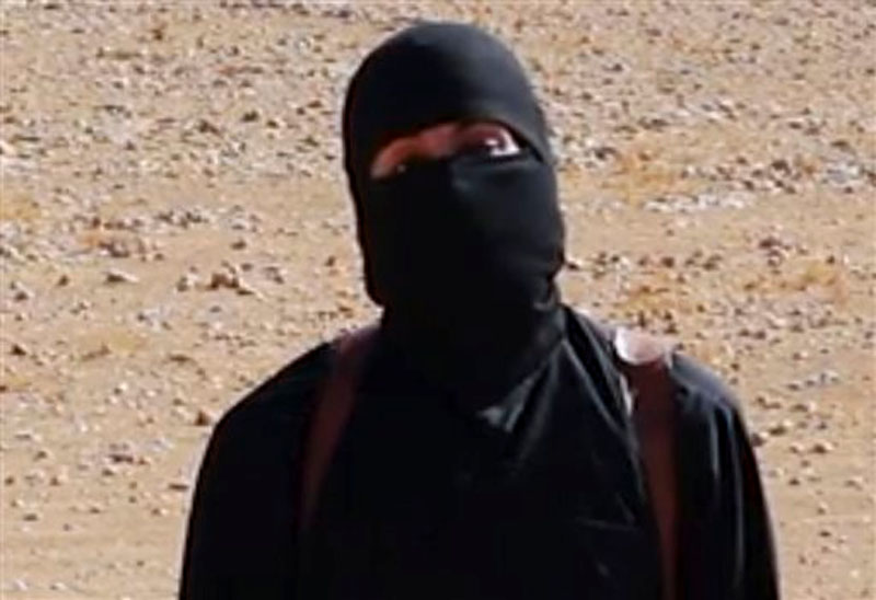 Image from undated video released by Islamic State militants on Ocober 3, 2014, purports to show the militant known as Jihadi John participated in the beheading videos of two American journalists and the slayings of several other captives. Image: AP
