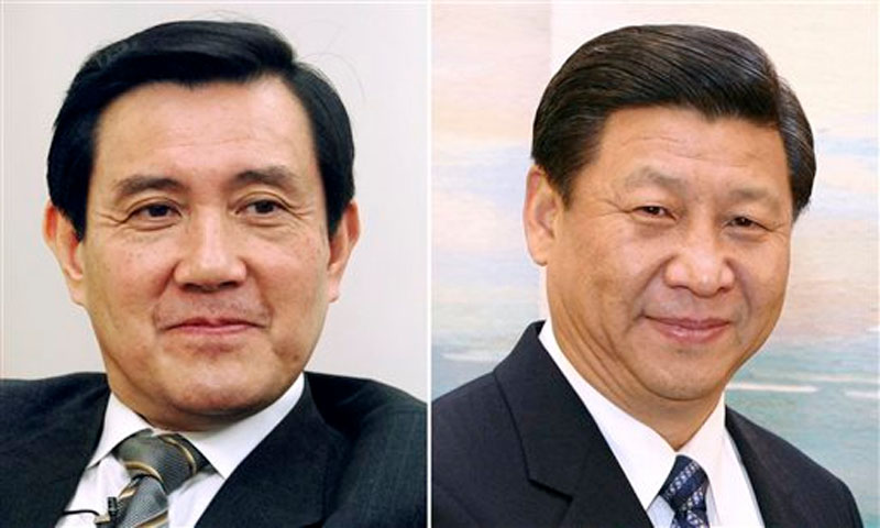 Taiwan's President Ma Ying-jeou, left, and China's President Xi Jinping. Photo: AP