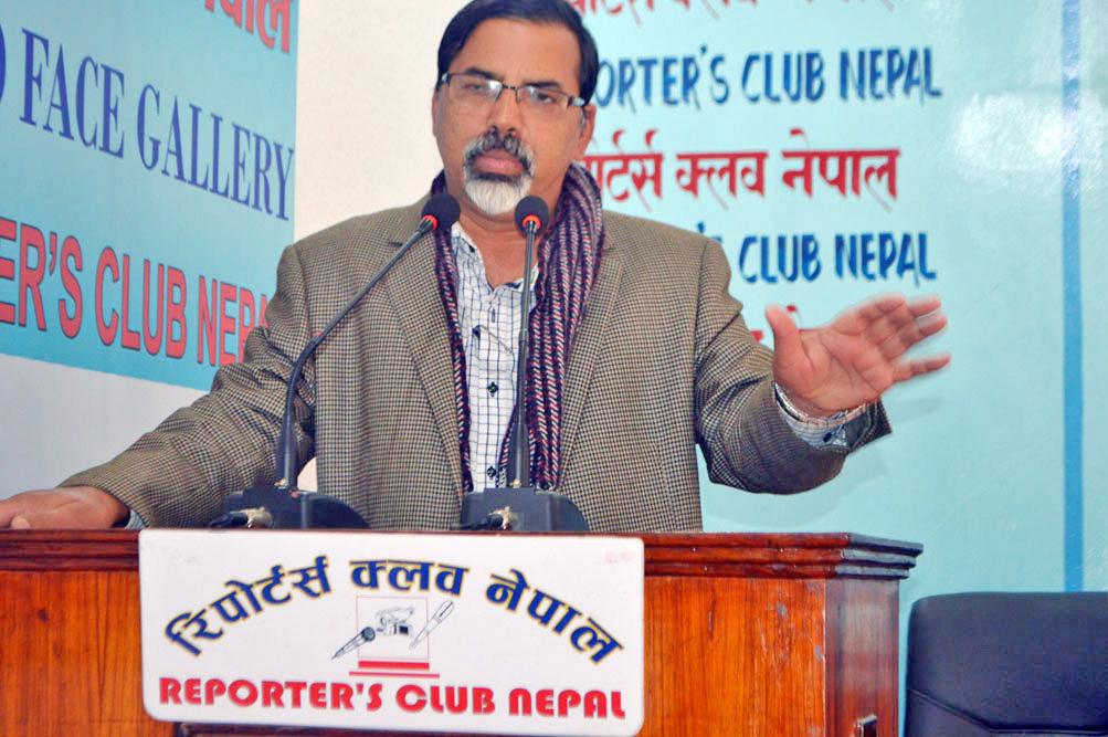 FILE: CPN Maoist Centre leader Janardan Sharma. Photo: Reporters' Club