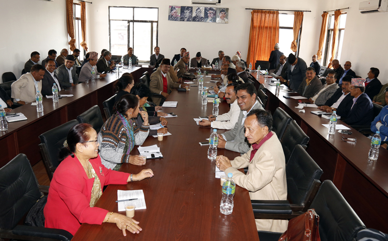 Nepali Congress Central Working Committee holding its meeting, in Kathmandu, on Monday, November 2, 2015. Photo: RSS