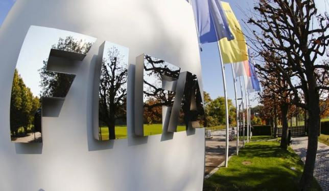 FIFA's logo is seen at its headquarters in Zurich, Switzerland October 3, 2015.  Photo: REUTERS