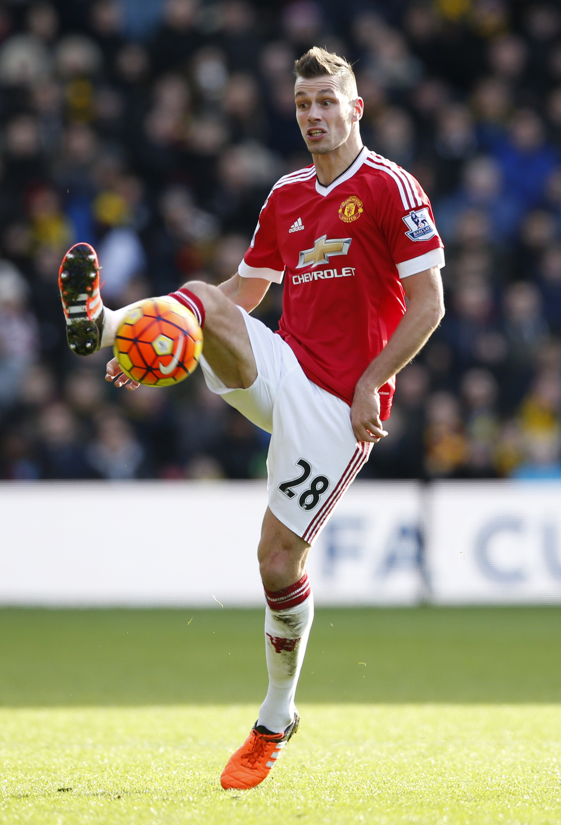 Morgan Schneiderlin in action during Barclays Premier League game against Watfford at Old Trafford on November 21, 2015. Photo: Reuters