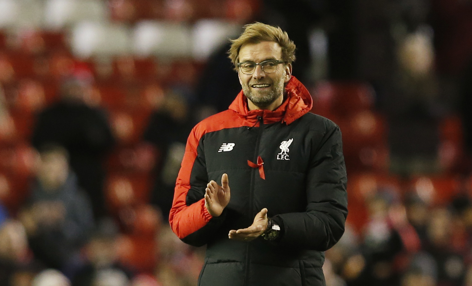 Liverpool manager Juergen Klopp celebrates at the end of the match against Swansea City during Premier League game at Anfield on November 29, 2015. Photo: Reuters