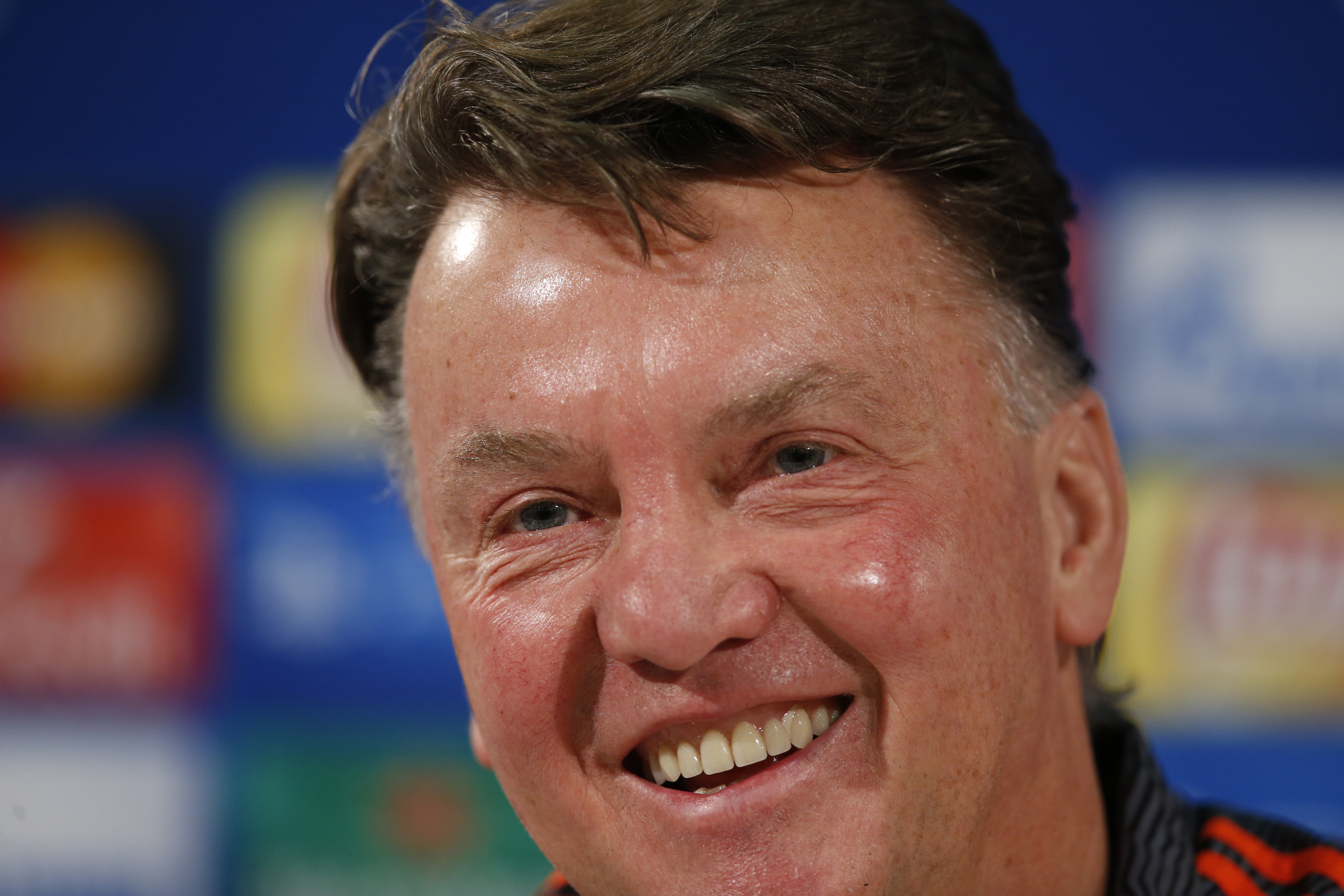 Manchester United's manager Louis van Gaal during the press conference at Wolfsburg on Tuesday, December 7, 2015. Photo: Reuters