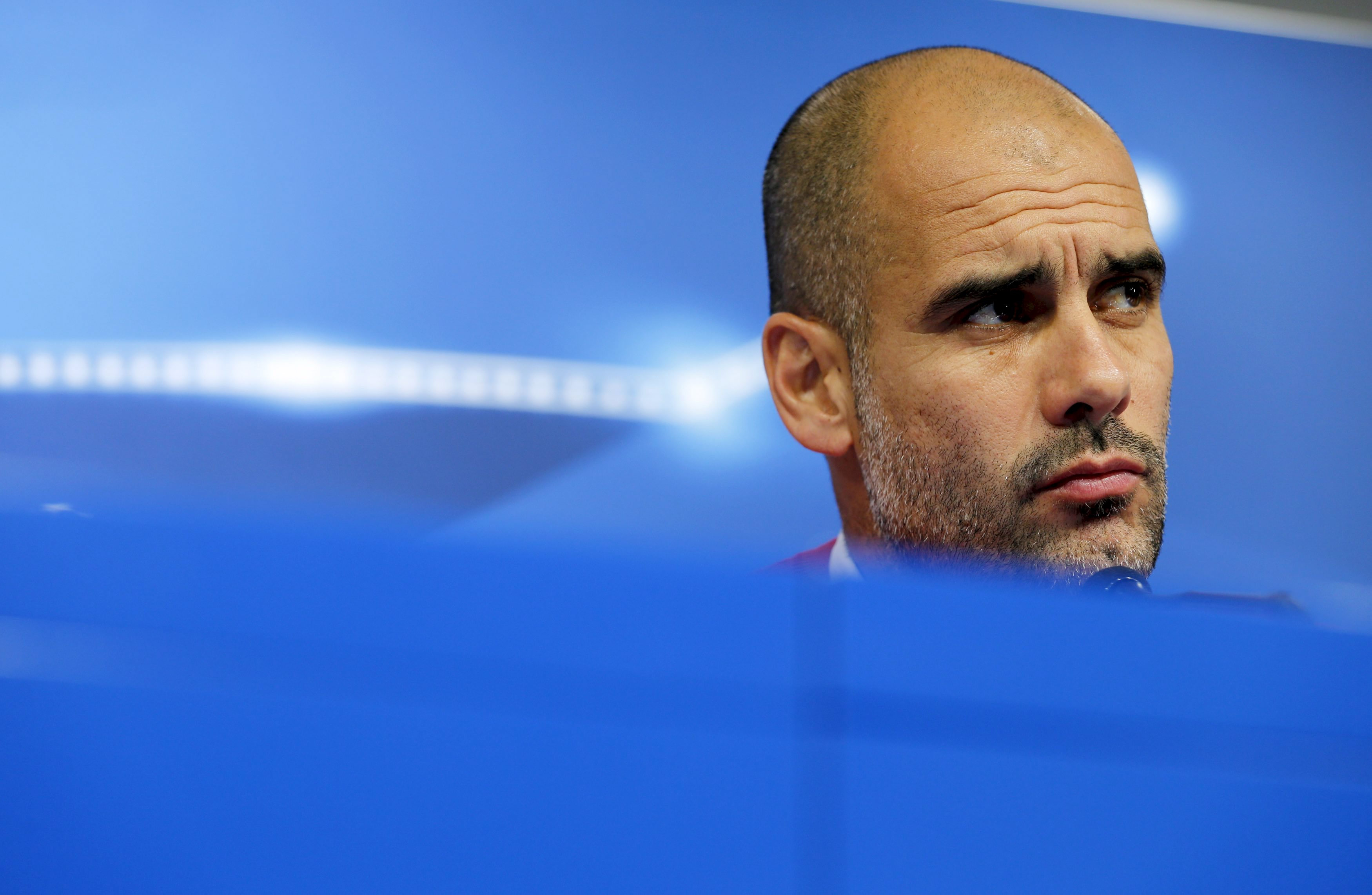 Bayern Munich's coach Pep Guardiola attends a news conference on the eve of their UEFA Champions League soccer match against Dinamo Zagreb at Maksimir Stadium, Zagreb, Croatia on December 12, 2015. Photo: Reuters