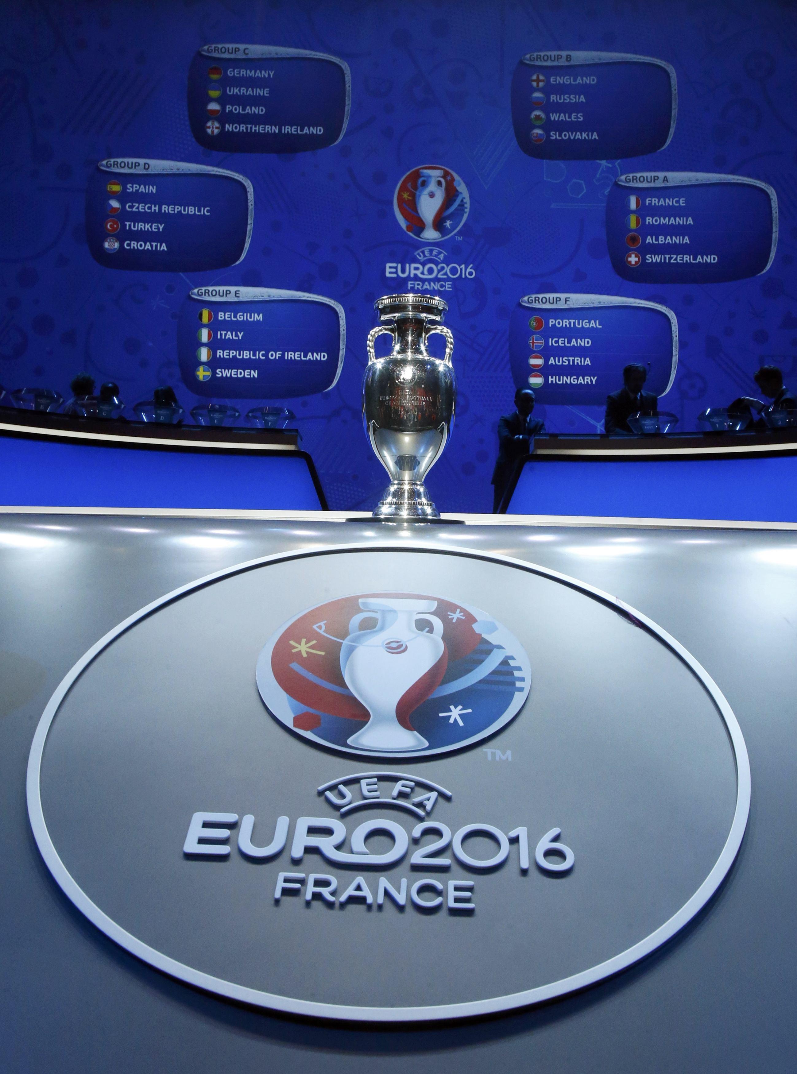 Euro 2016 draw at Palais des Congres in Paris, France on December 12, 2015. Photo: Reuters