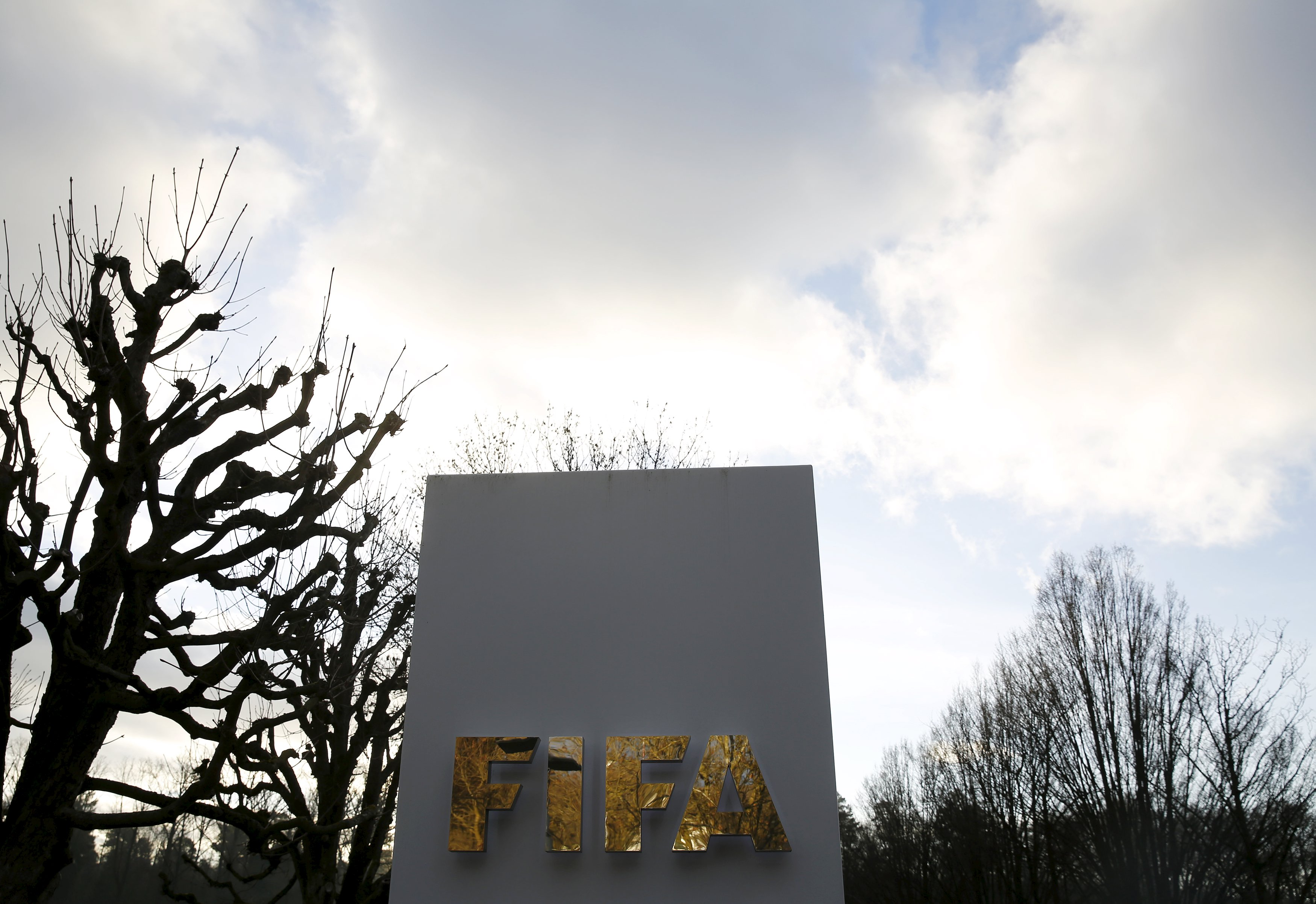 A FIFA sign is seen outside the FIFA headquarters in Zurich, Switzerland December 17, 2015. Photo: Reuters