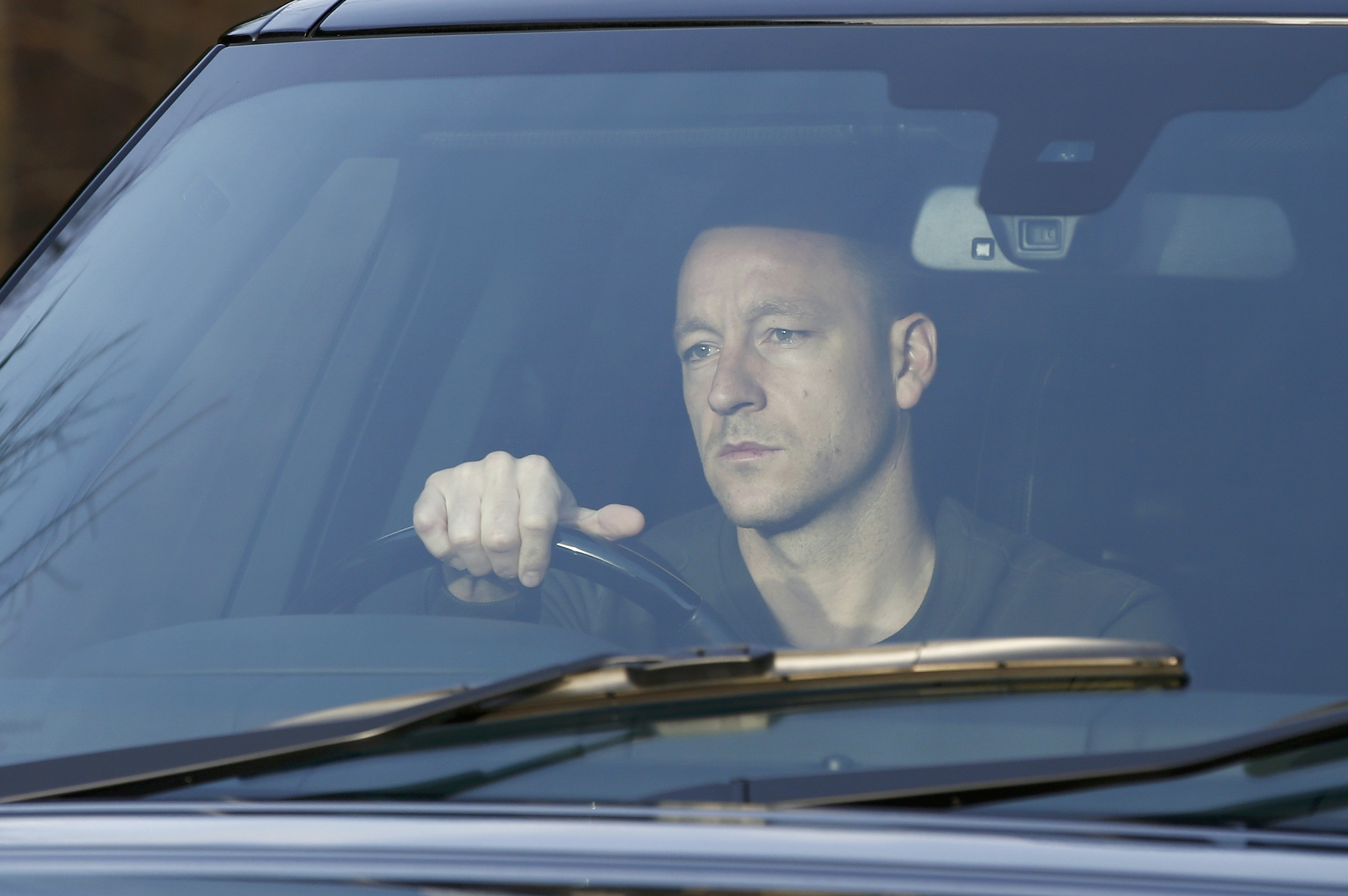 Chelsea's captain John Terry arrives for training the day after manager Jose Mourinho was sacked at the team's training facility in Cobham, southern England, December 18, 2015. Photo: Reuters