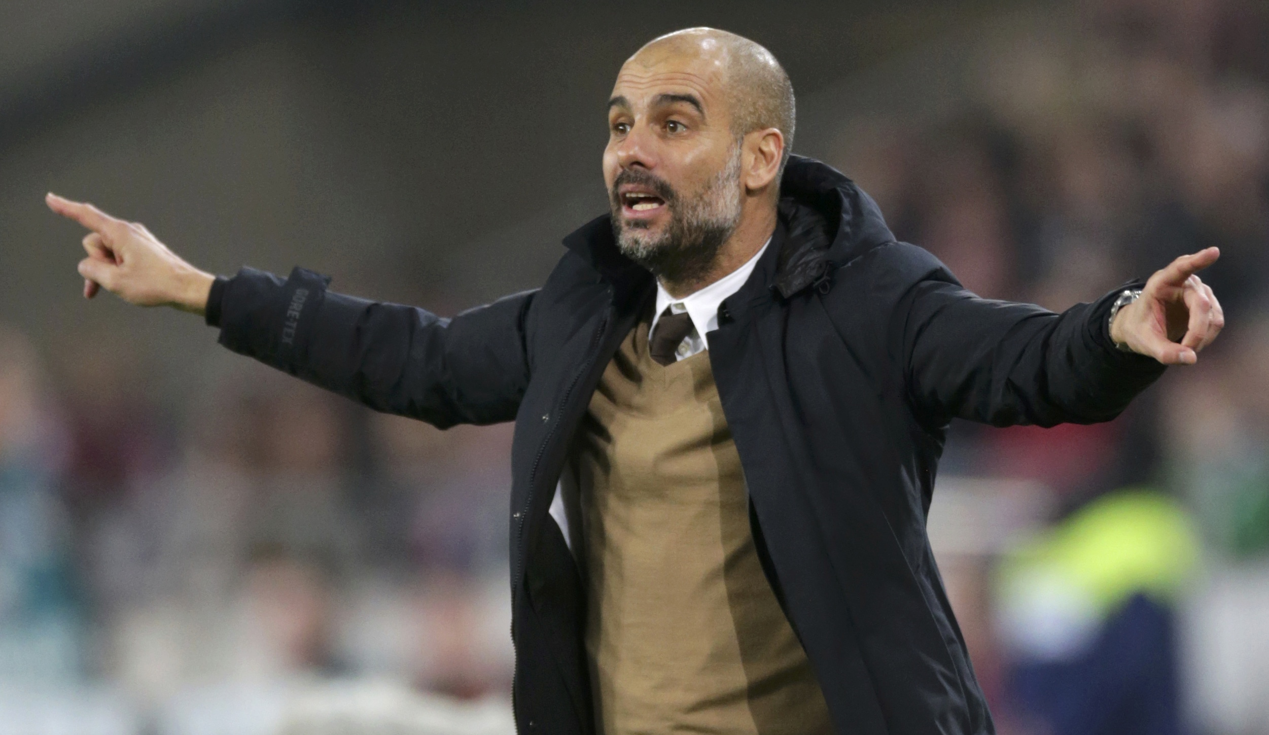 Bayern Munich's coach Pep Guardiola during the match on December 5, 2015. Photo: Reuters