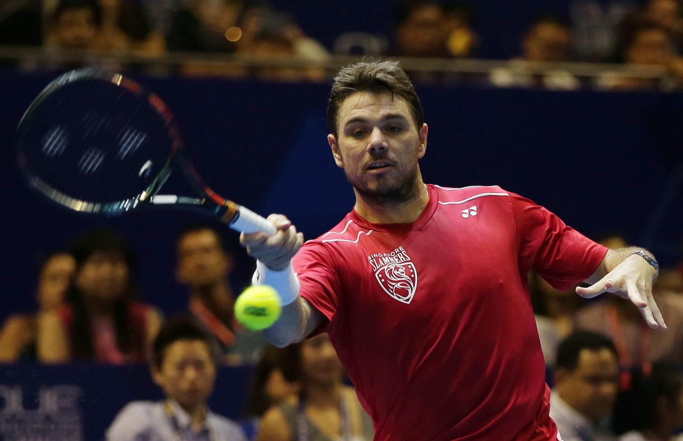 International Premier Tennis League FinalnMen's Singles - Singapore Slammers' Stan Wawrinka in action on Sunday, December 20, 2015. Photo: Reuters