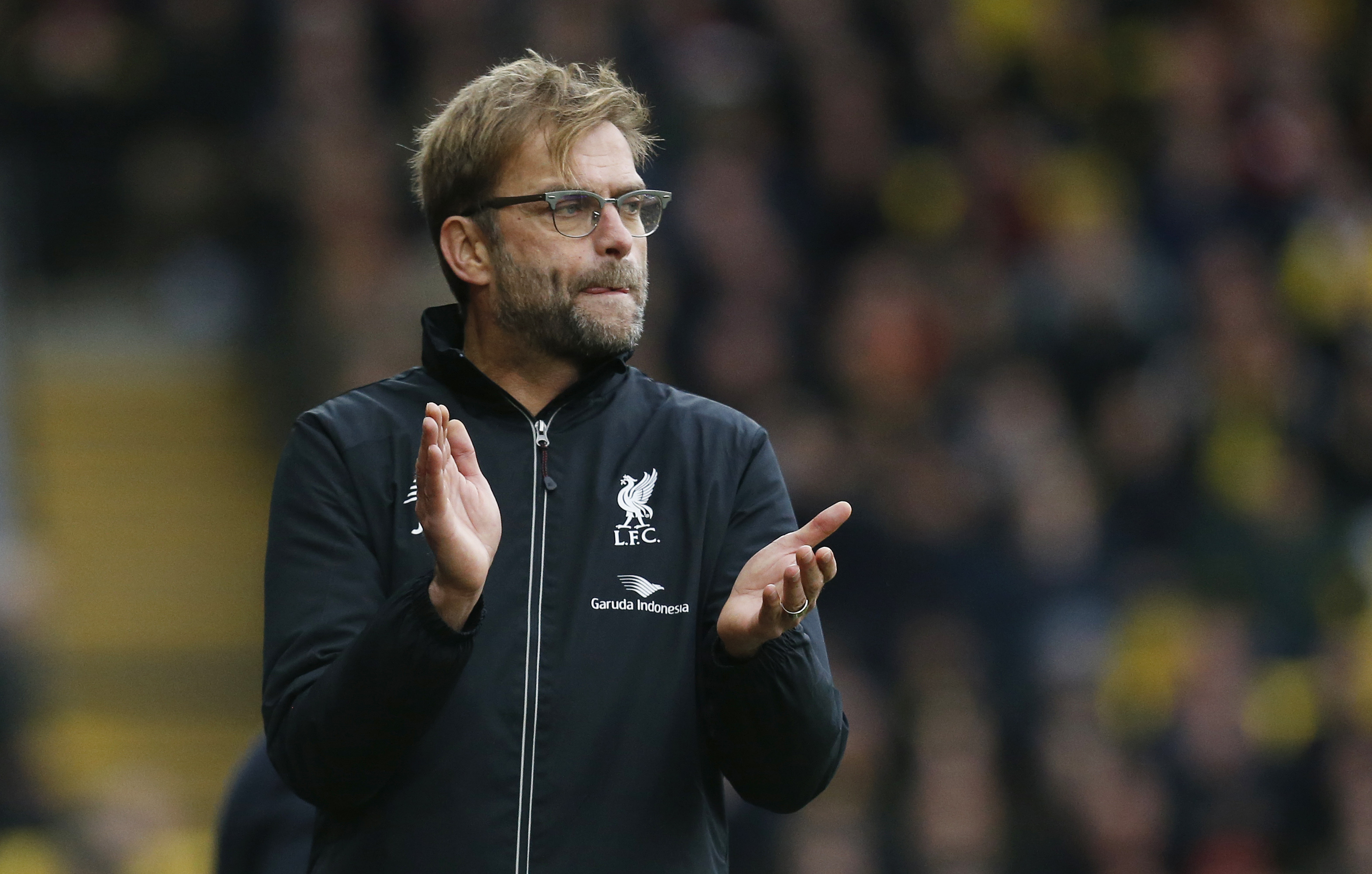 Liverpool manager Juergen Klopp at Vicarage Road in December 20, 2015. Photo: Reuters