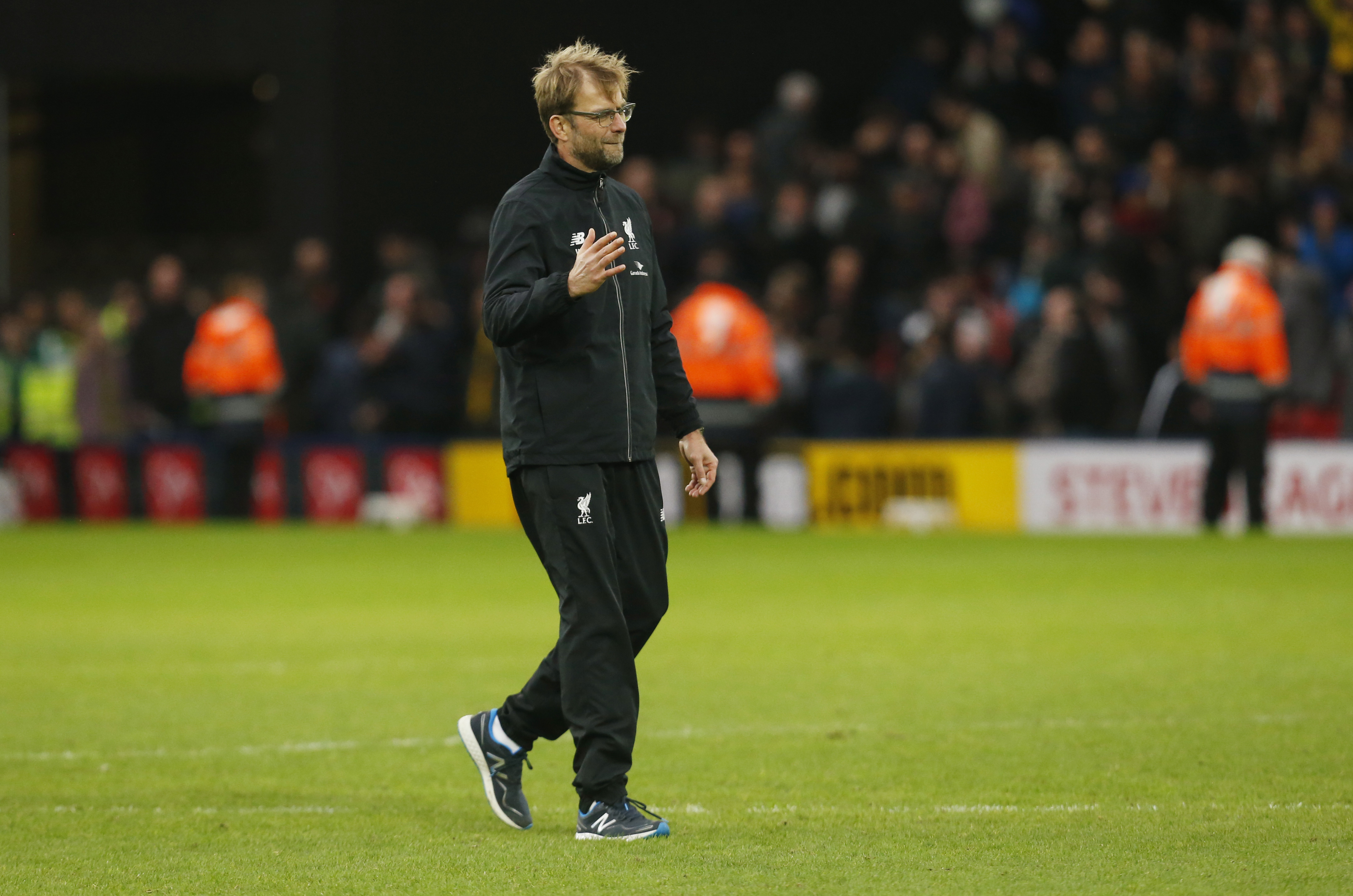 Liverpool manager Juergen Klopp at the end of the game against Wartford at Vicarage Road in December 20, 2015. Photo: Reuters
