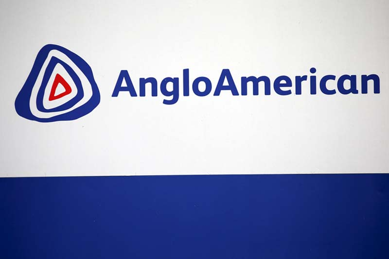 The Anglo American logo is seen in Rusternburg on October 5, 2015. Photo: Reuters/ File