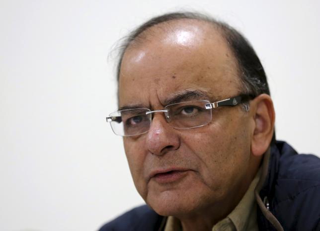 India's Finance Minister Arun Jaitley speaks with the media in New Delhi November 23, 2015. REUTERS/Adnan Abidi/Files