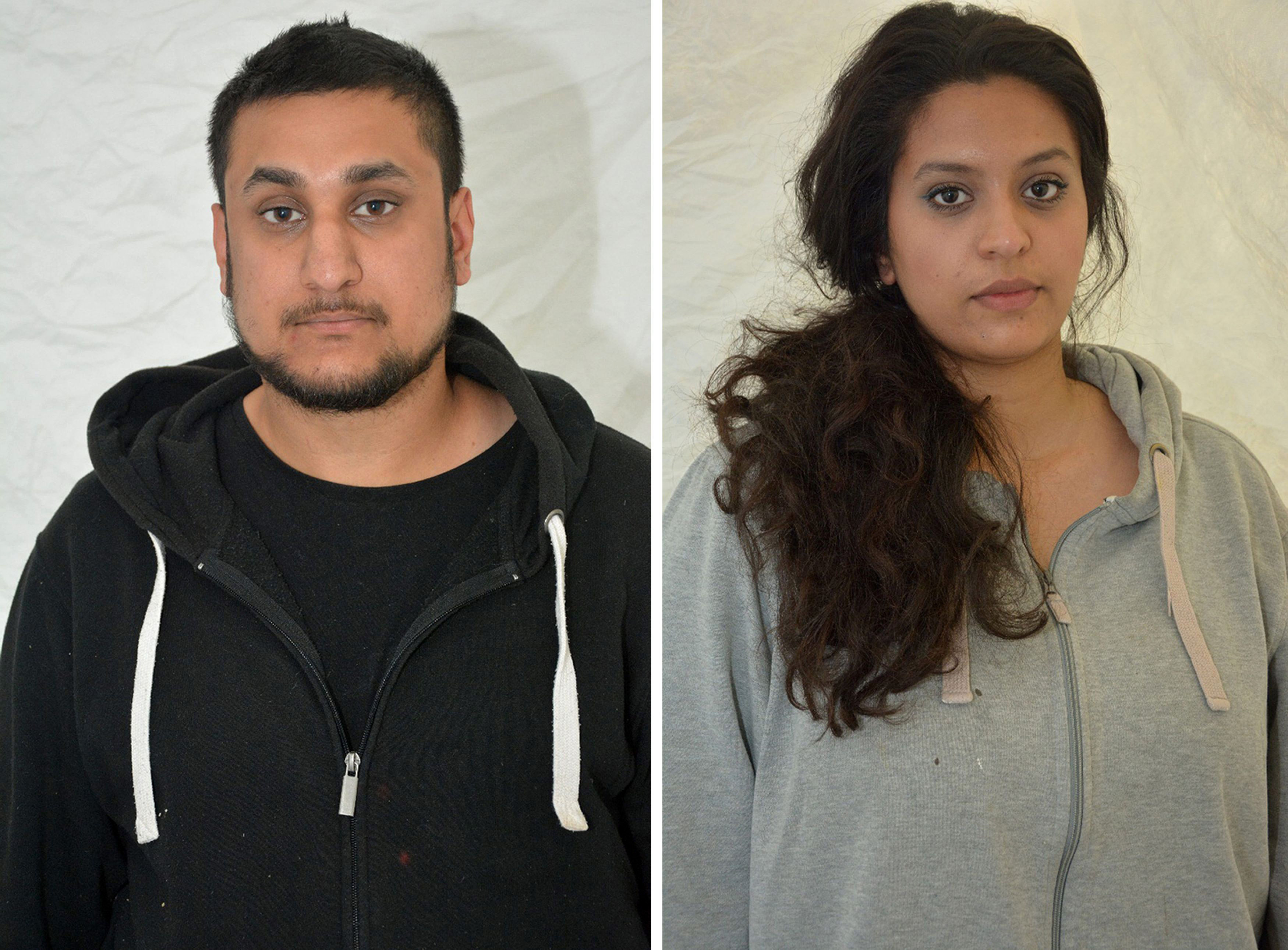 This photo provided by Thames Valley Police shows  Mohammed Rehman, left and his wife Sana Ahmed Khan. Photo: AP