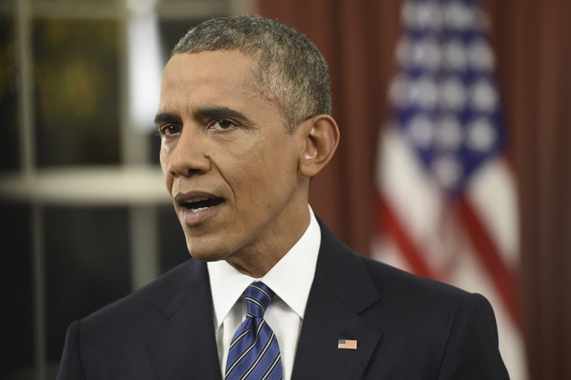 US President Barack Obama speaks about counter-terrorism and the United States fight against Islamic State during an address to the nation from the Oval Office of the White House in Washington, December 6, 2015. Photo: Reuters