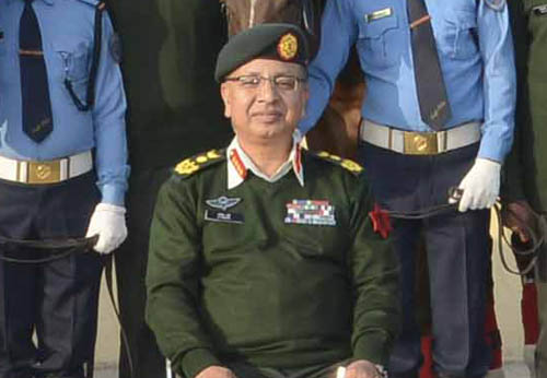 Chief of Army Staff Rajendra Chhetri. Photo: RSS