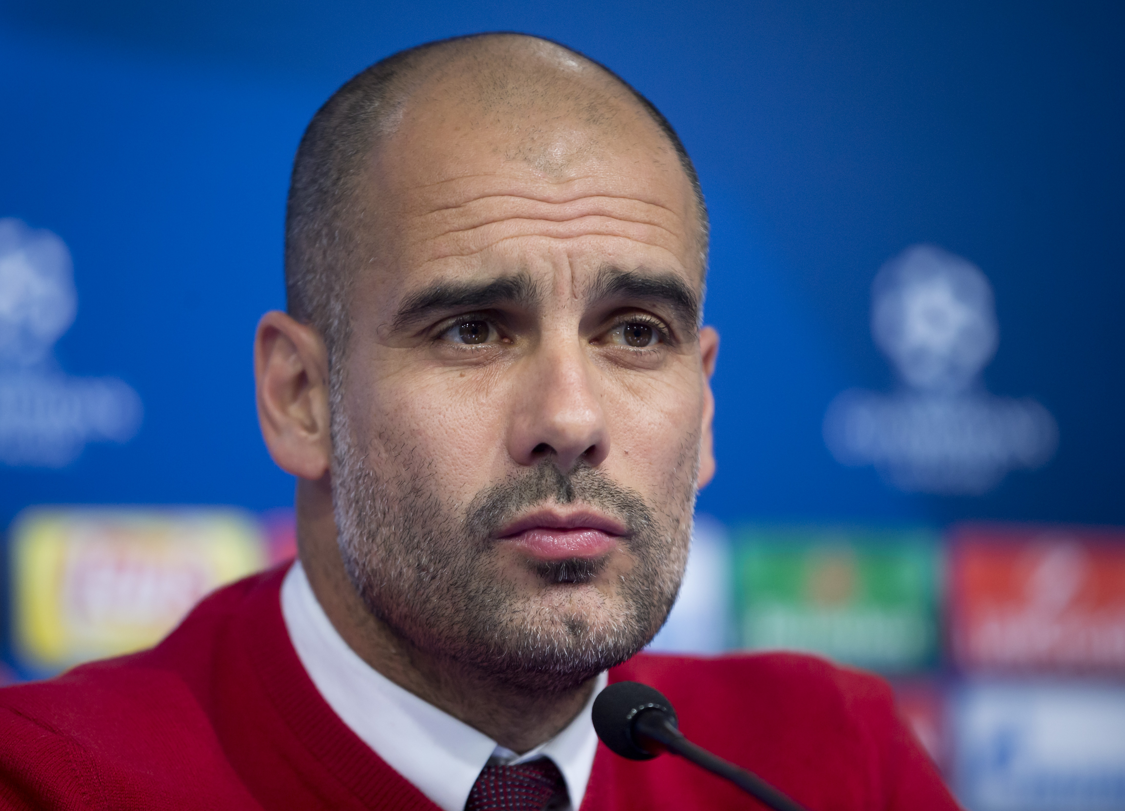 Bayern's head coach Pep Guardiola listens to a question during a press conference ahead of the Champions League Group F soccer match between Dinamo Zagreb and Bayern Munich, in Zagreb, Croatia, Tuesday, December 8, 2015. Photo: AP