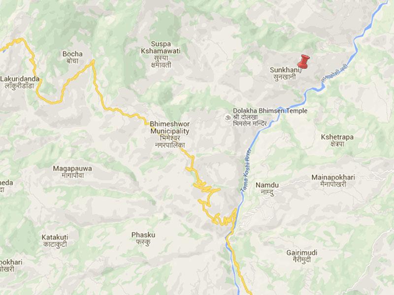 Dolakha aftershock. Source: Google Maps