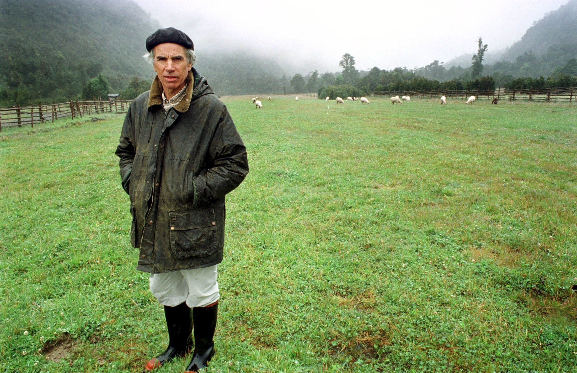 US millionaire conservationist Douglas Tompkins stands on his land in Chile on January 2000. Photo: Reuters/ File