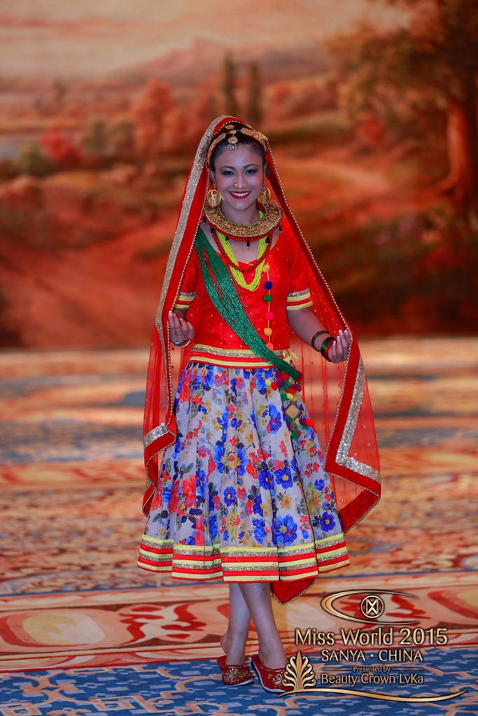 Miss Nepal 2015, Evana Manandhar, poses for a photograph at the auditions of the Dances of the World competition in Sanya, China, on November 30, 2015. Courtesy: Miss World Organisation