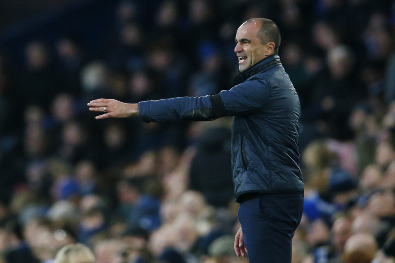 Everton manager Roberto Martinez reacting during Everton vs Aston Villa match of Barclays Premier League at Goodison Park on November 21, 2015. Photo: Action Images via Reuters