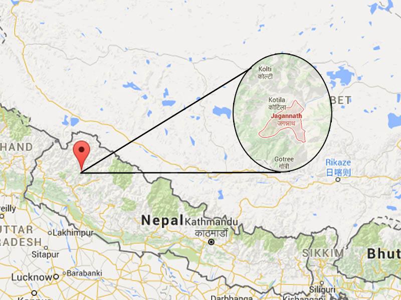 Jagannath of Bajura district. Source: Google Maps