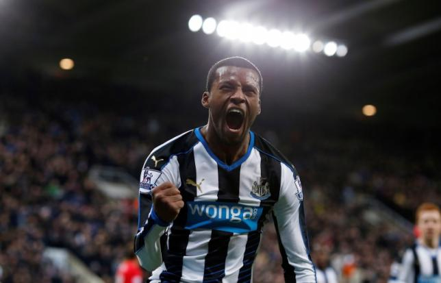 Football Soccer - Newcastle United v Liverpool - Barclays Premier League - St James' Park - 6/12/15nNewcastle United's Georginio Wijnaldum celebrates after Liverpool's Martin Skrtel (not pictured) scores an own goal and the first for Newcastle. Photo: Reuters