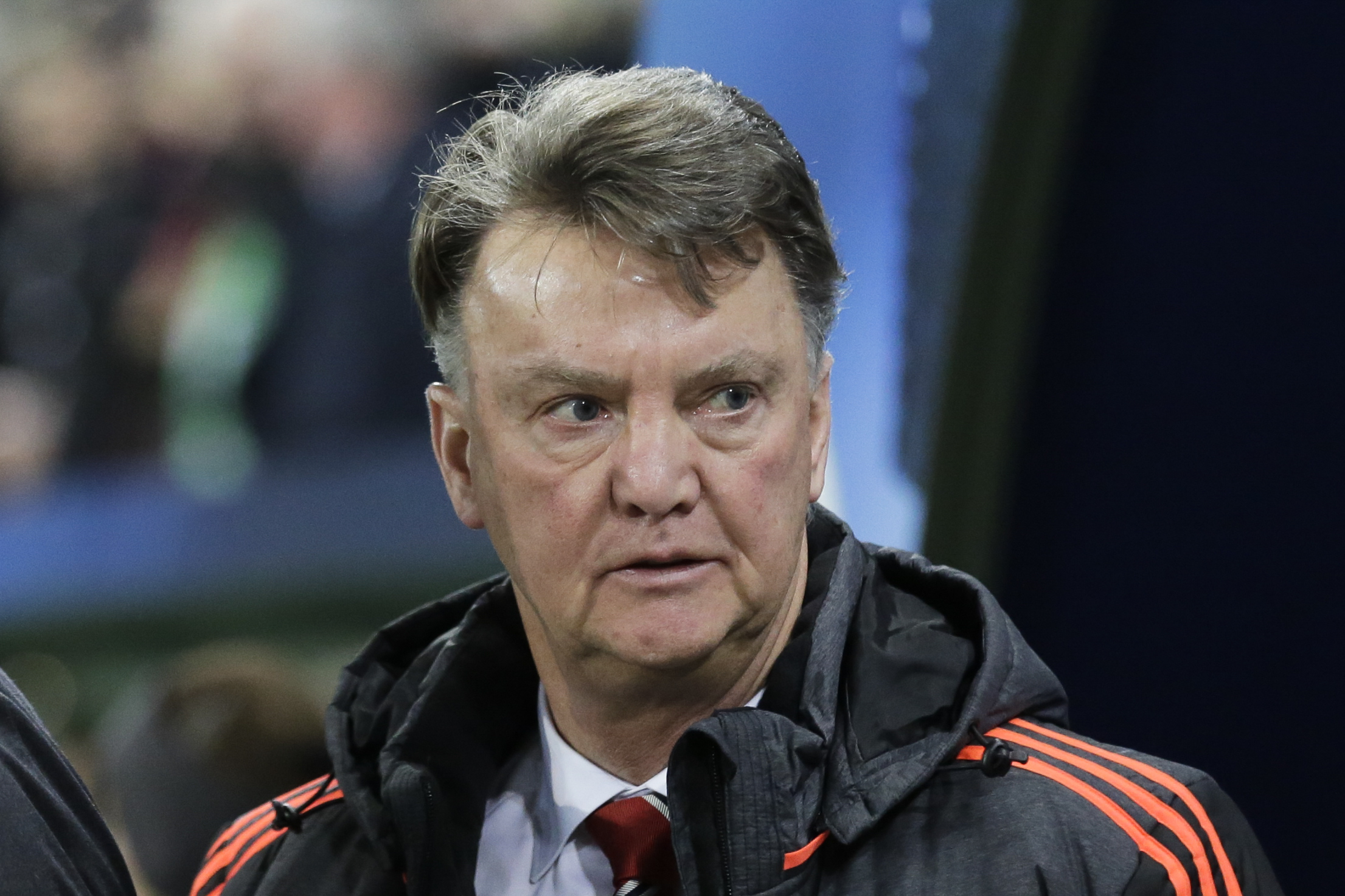 Manchester United's manager Louis van Gaal arrives for the Champions League group B soccer match between VfL Wolfsburg and Manchester United in Wolfsburg, Germany, Tuesday, Dec. 8, 2015. Photo: AP