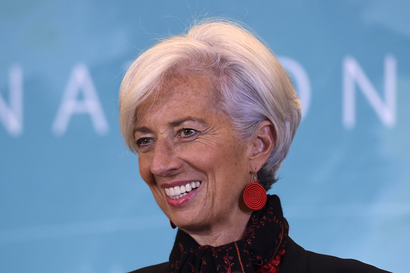 International Monetary Fund (IMF) Managing Director Christine Lagarde speaks during a news conference at the IMF in Washington, Monday, Nov. 30, 2015, to announce the Chinese yuan will join a basket of the world's leading currencies. Photo: AP