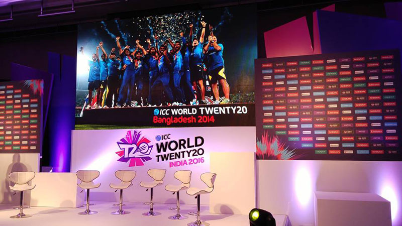 ICC World Twenty20 India 2016 will be going LIVE with a Facebook Video Stream of the launch. Photo courtesy: International Cricket Council