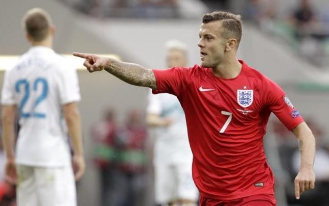 England's Jack Wilshere celebrates after scoring a goal. Photo: Reuters