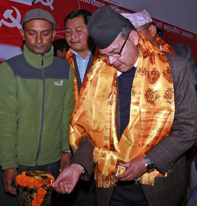 CPN-UML senior leader Jhala Nath Khanal