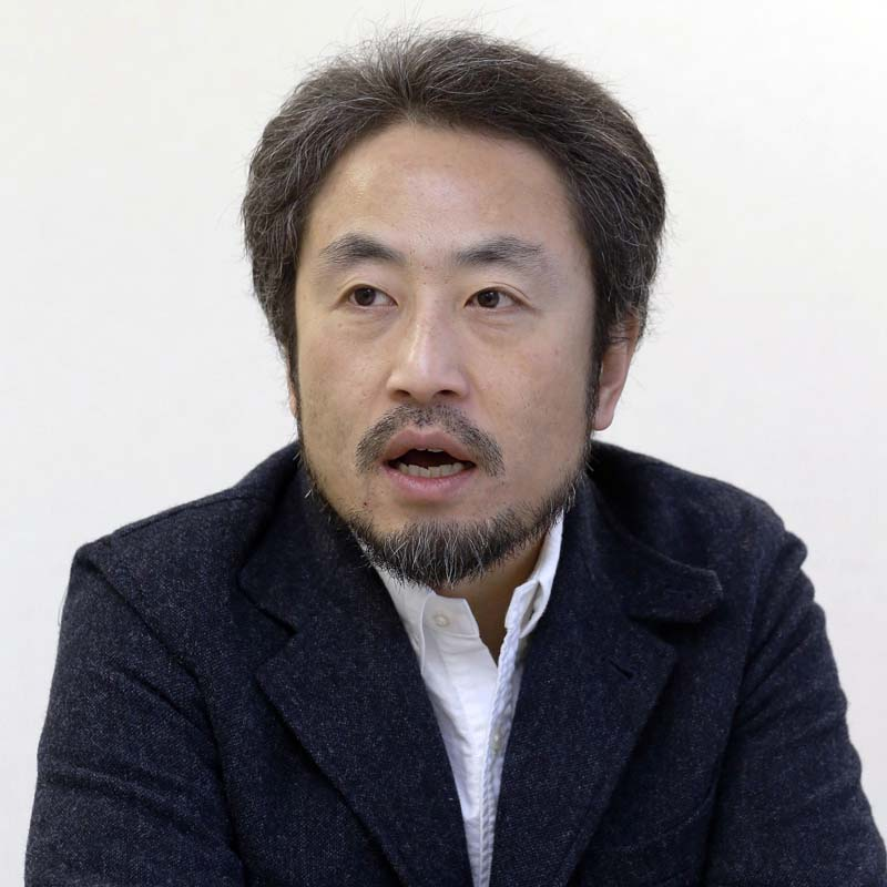 Japanese freelance journalist Jumpei Yasuda speaks during an interview in Tokyo on February 18, 2015. Photo: Kyodo News via AP/ File