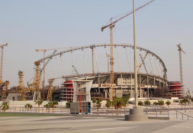 Construction work goes on at the Khalifa International Stadium in Doha, Qatar September 16, 2015. REUTERS/Naseem Zeitoon/Files