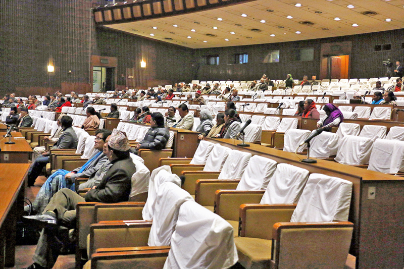 File - Lawmakers at the Legislature Parliament on Sunday, December 13, 2015. Photo: RSS