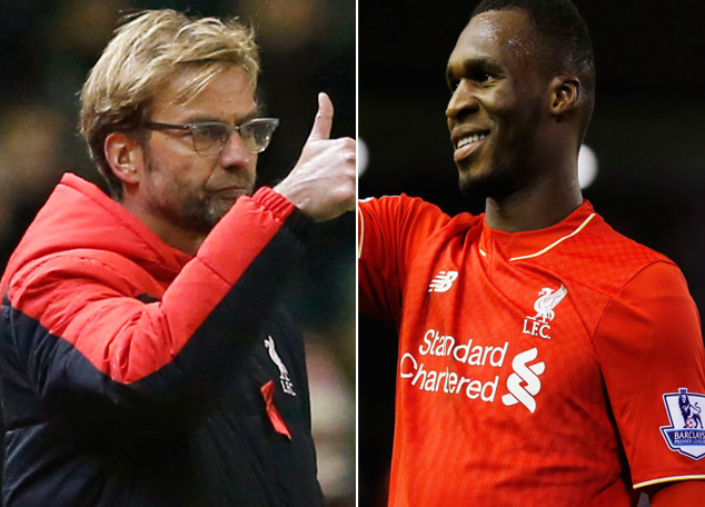 Liverpool manager Juergen Klopp (left) and striker Christian Benteke. Photos: Reuters