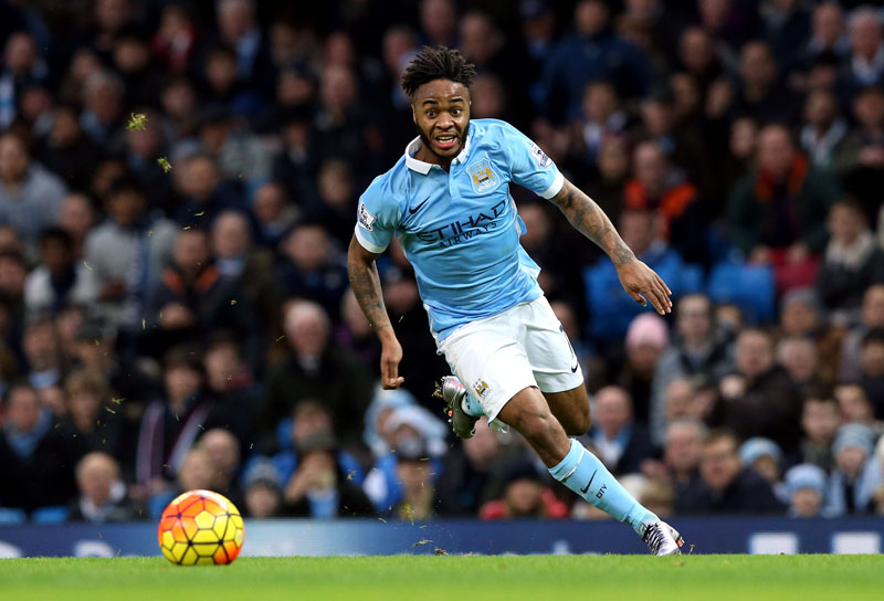 Manchester City's Raheem Sterling in action during the English Premier League soccer match against Sunderland at the Etihad Stadium, Manchester, England, on Saturday December 26, 2015. Photo: AP