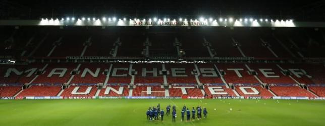 Football Soccer - PSV Eindhoven Training - Old Trafford, Manchester, England - 24/11/15. General view during training. Action Images via Reuters / Carl RecinenLivepic.