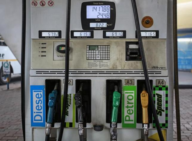 Fuel pumps are seen at a Bharat Petroleum gas station in Mumbai January 12, 2015. REUTERS/Danish Siddiqui/Files